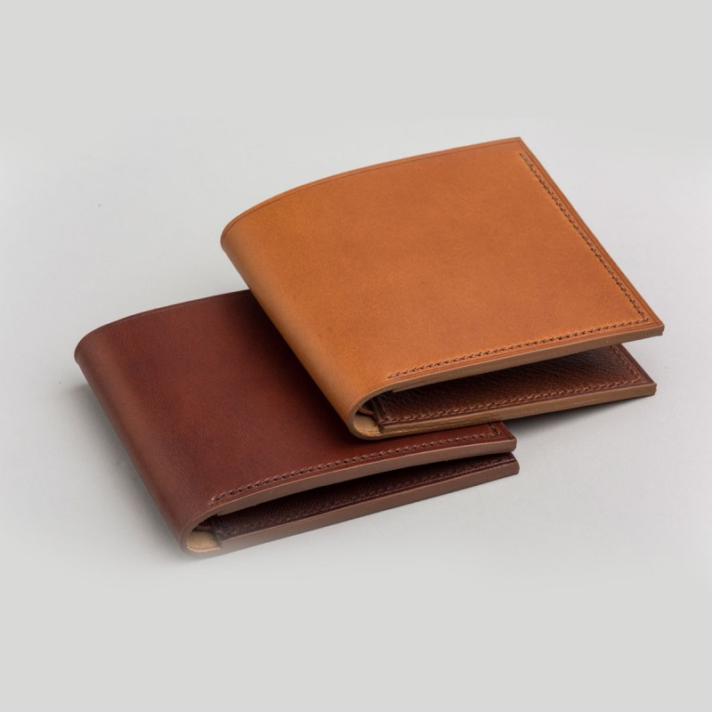 fbd6967b103c Handmade Men's Bifold Leather Wallet